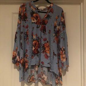 Blu Pepper floral tunic